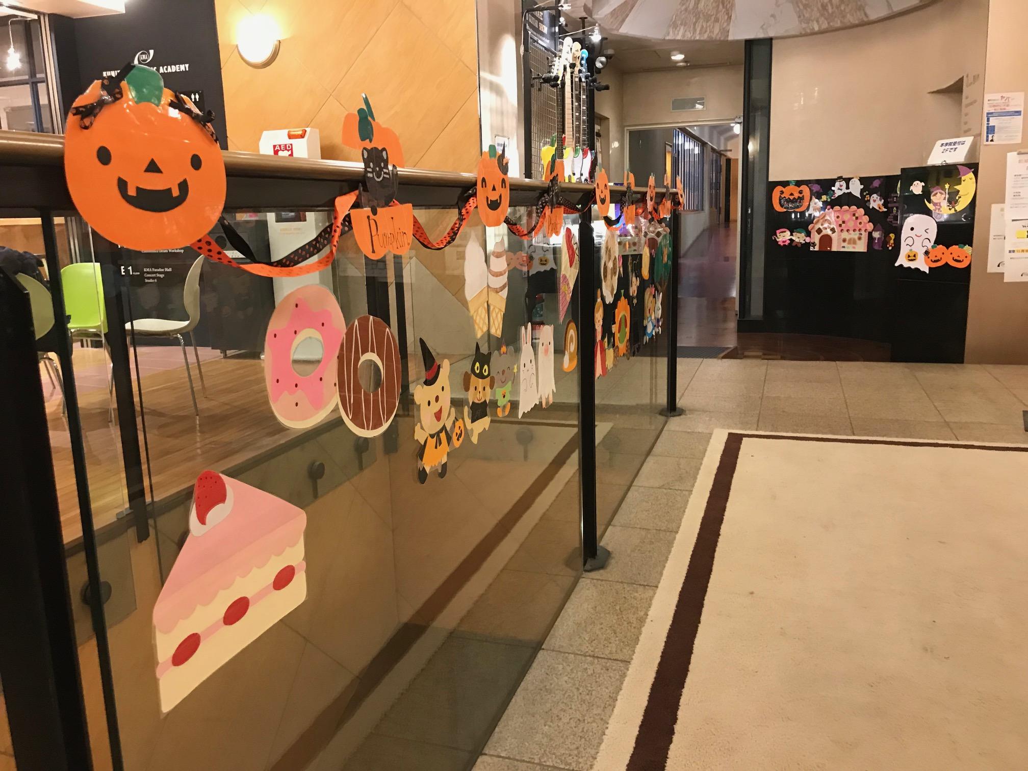 2018年ハロウィンに合わせたリトミック教室の装飾